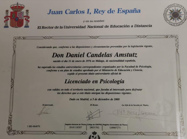 Título Licenciado en Psicología