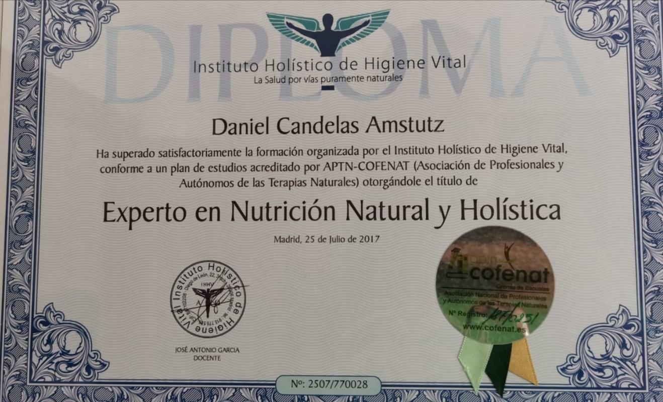 TÍTULO EXPERTO EN NUTRICION NATURAL Y HOLISTICA